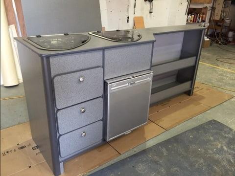 B c caravans grey furniture magnum motorhomes for Campervan furniture plans