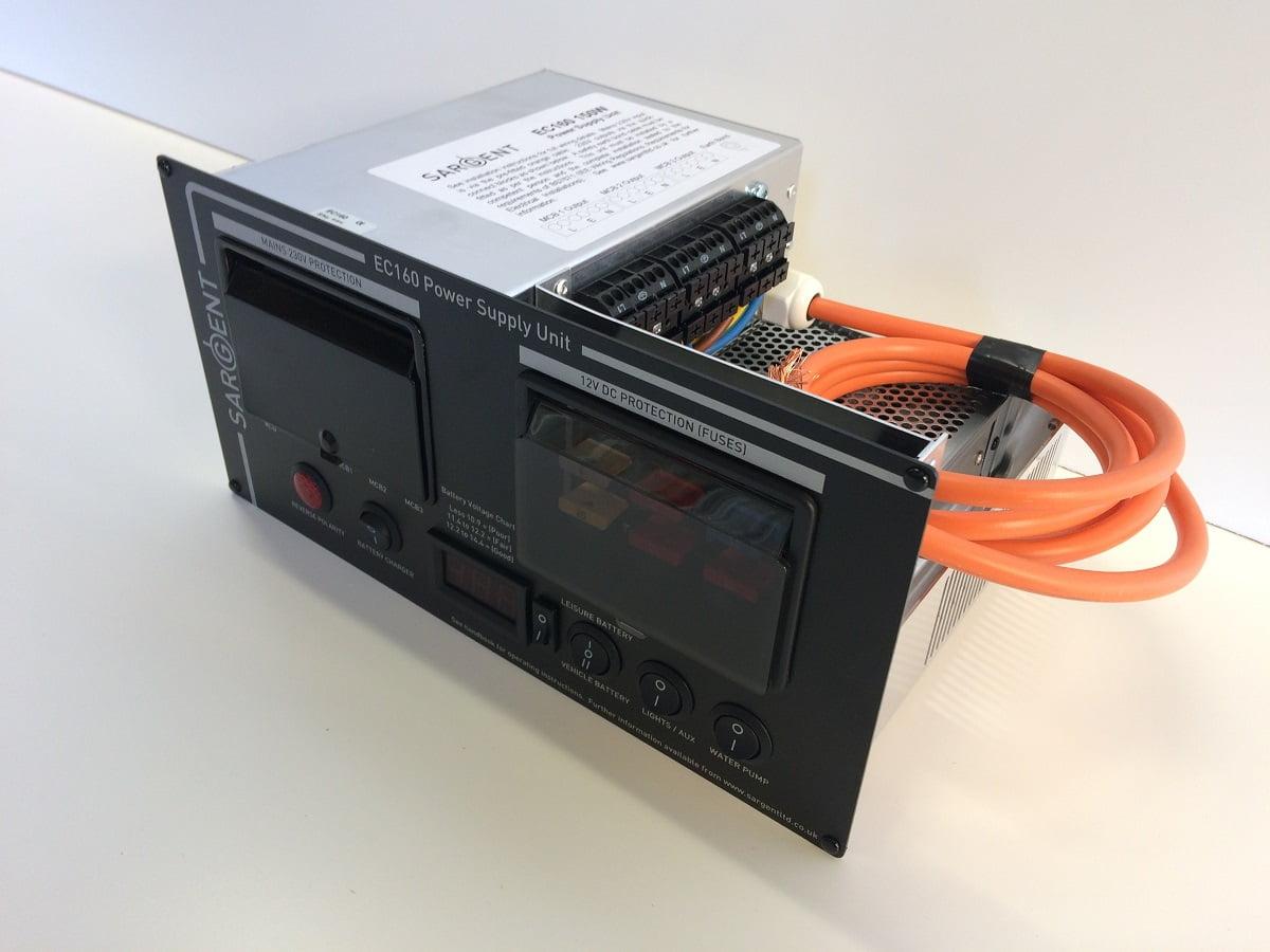 Power Supply Unit : Sargent ec power supply unit black magnum motorhomes