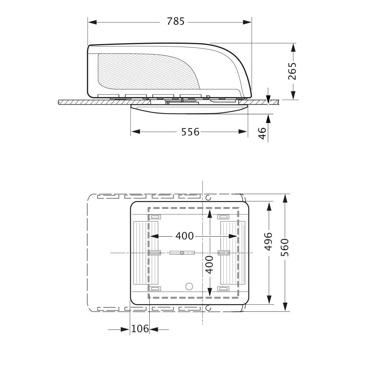Truma Aventa Compact Roof Mount Air Con Magnum Motorhomes